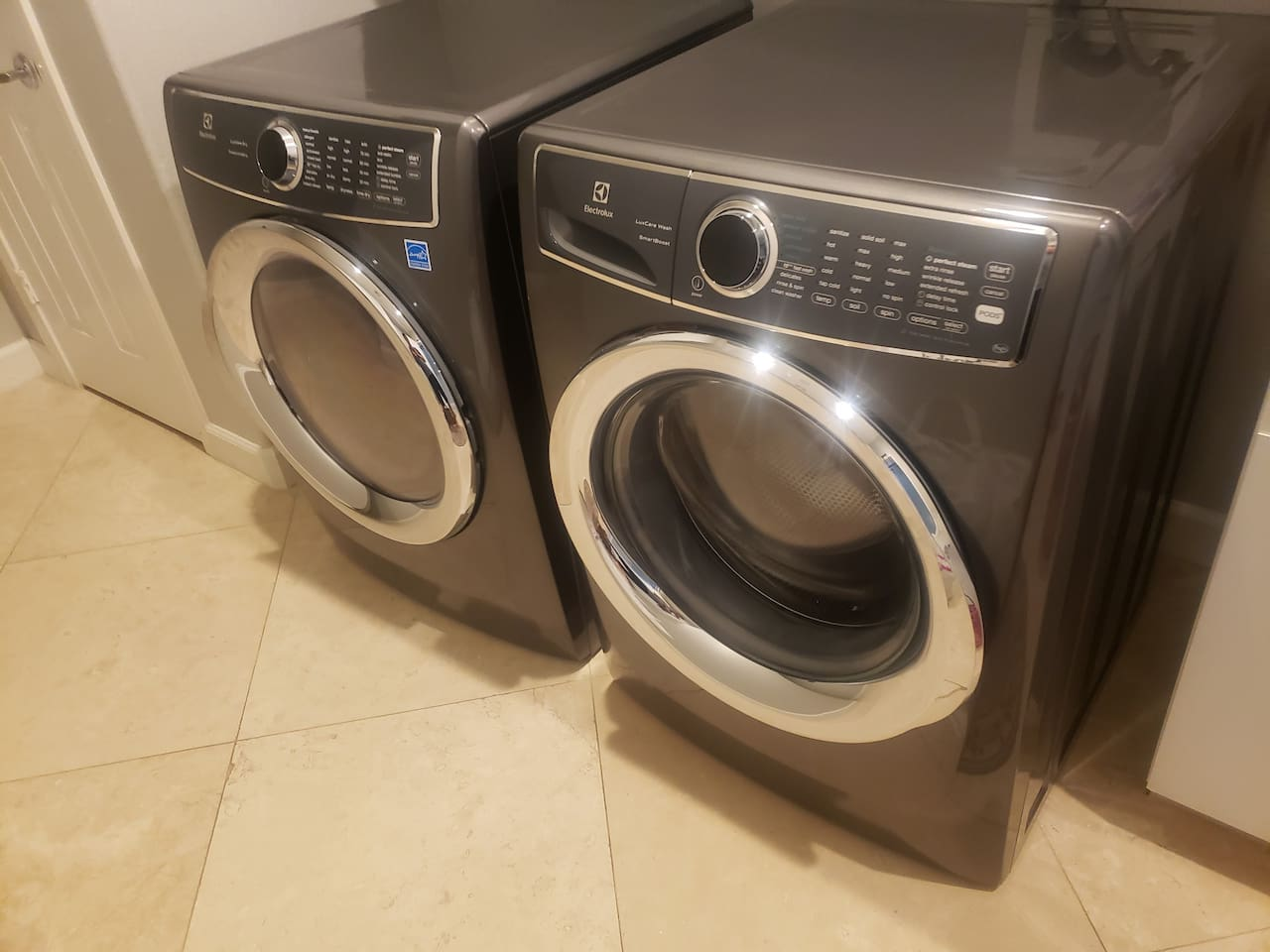 Brand new Electrolux washer and dryer