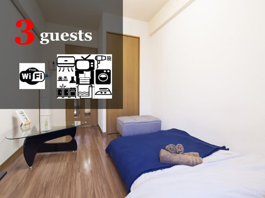 Available for up to 3 guests