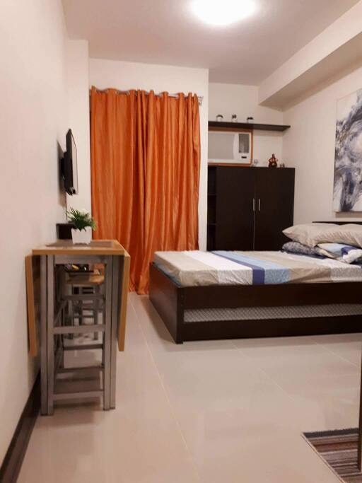 Fully furnished studio unit