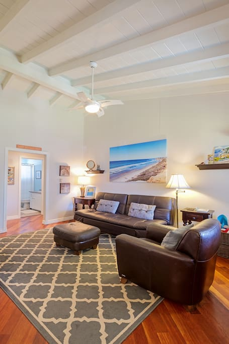 Vaulted Ceilings Give You Space To Unwind...