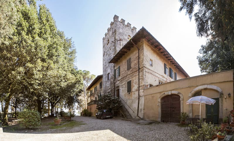 Minihouse in small medieval Castle near Florence