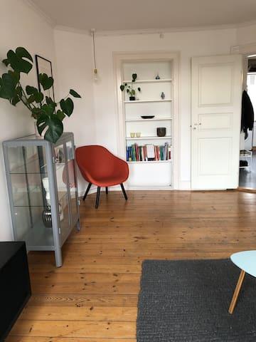 Livingroom. Chair to sit in.