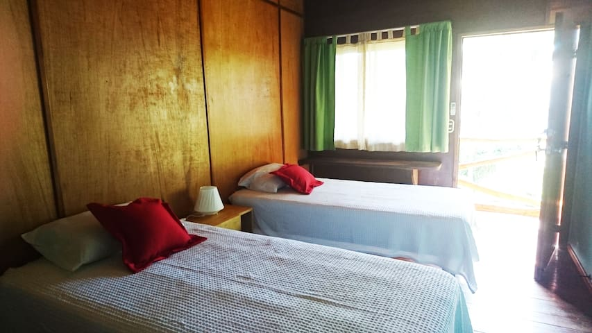 Twin beds room in boutique hotel