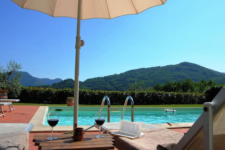 your apartement in vineyhard and olivegrove - Bagni di Lucca - Flat