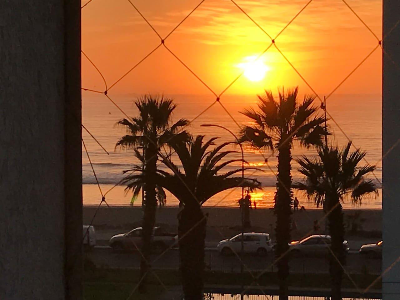 Vista desde la terraza a la playa (Altura Bakulic)