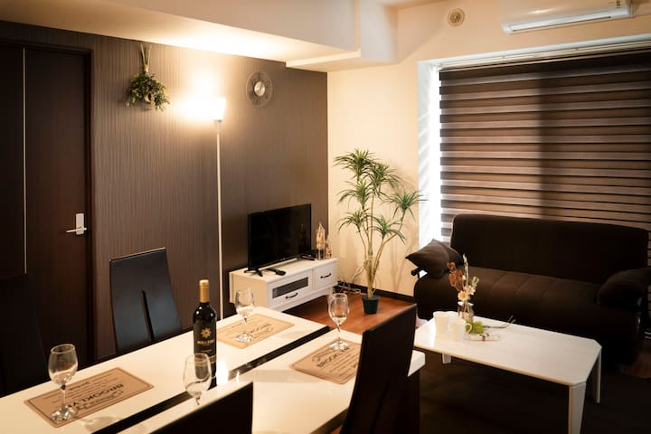 (BH902) Up to 8ppl, Modern & clean apt in Sapporo