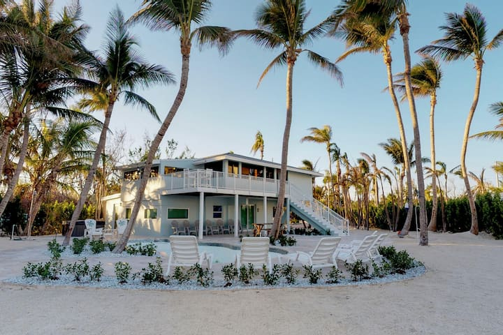 Dog-friendly, oceanfront home w/ private pool, hot tub, & private beach