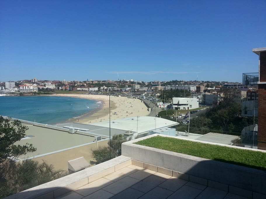 View over Bondi Beach from Balcony
