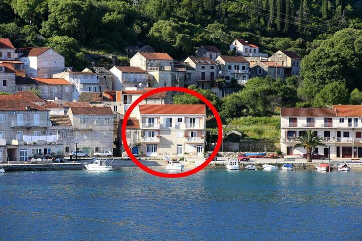Two bedroom apartment near beach Račišće, Korčula (A-4344-a)