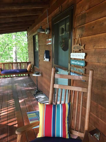 Relax on the front porch swing and rockers.