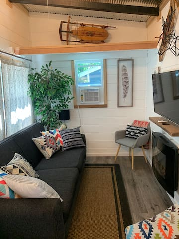 Living Room / couch available for sleeping