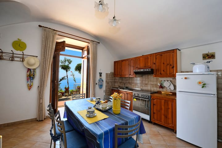 Casa Ibisco, Amazing Apartament with Sea View - Conca dei Marini