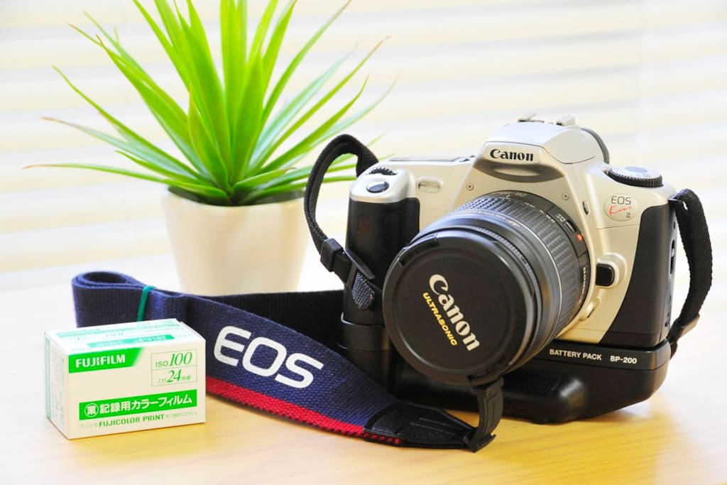 I rental freely this film camera to guest during stay, and present one Fuji color film
