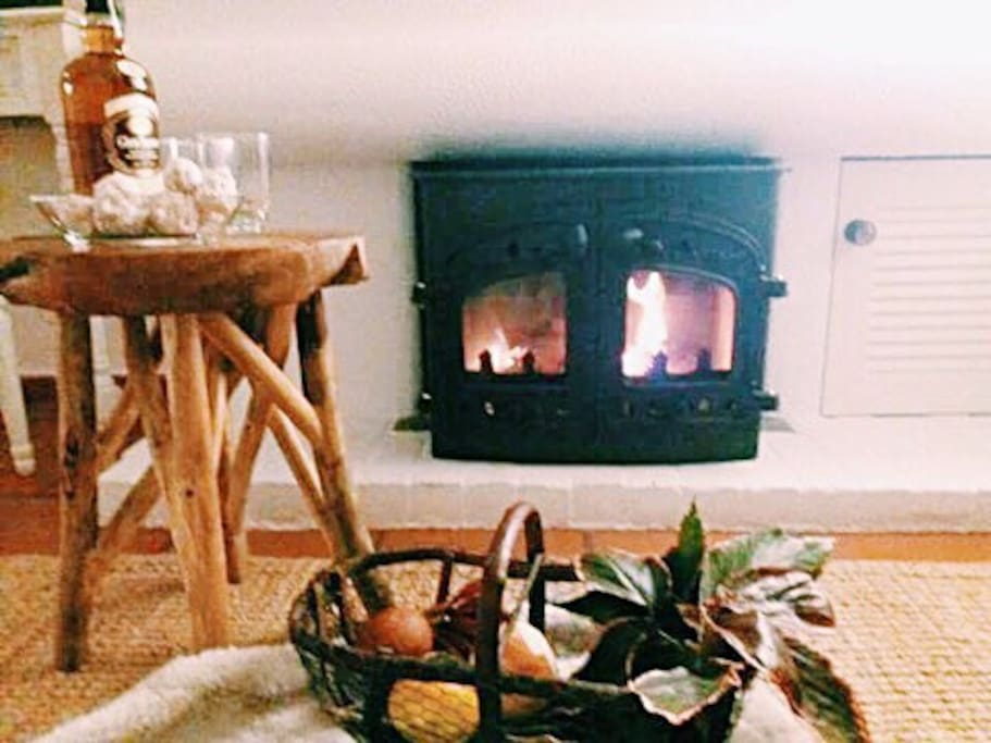 The fireplace for cozy winters