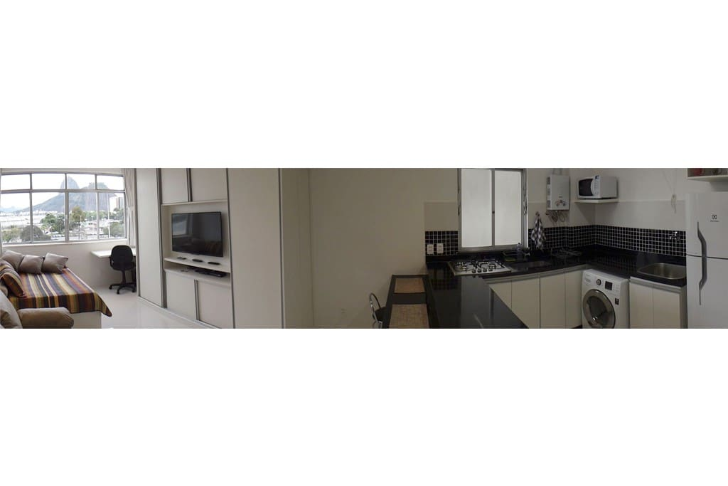 Panoramic Photo of the Apartment.