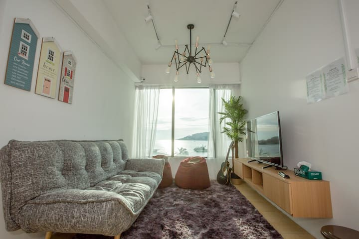Homy Seafront Hostel Private Room #1【温馨海景旅舍独立房间#1】