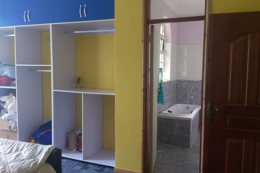 its a self contained room fully furnished with beautiful wardrobes