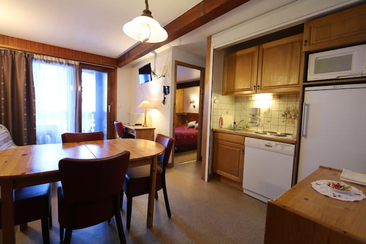 Chambre avec coin cuisine pour 4 ou 5 personnes