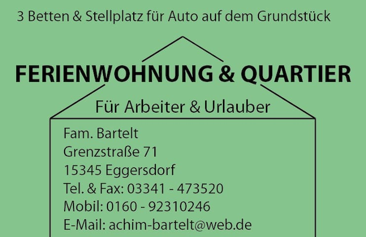 Gemütliches Bungalow im Grünen, Speckgürtel Berlin - Petershagen/Eggersdorf - Cabana