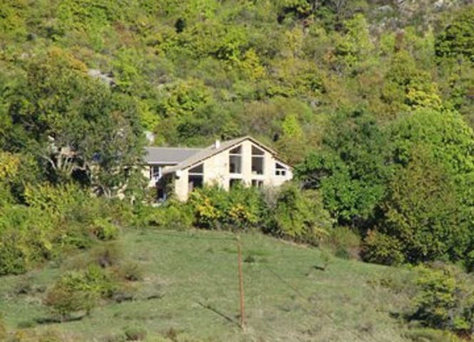Authentic renovated farmhouse in the Alpes .