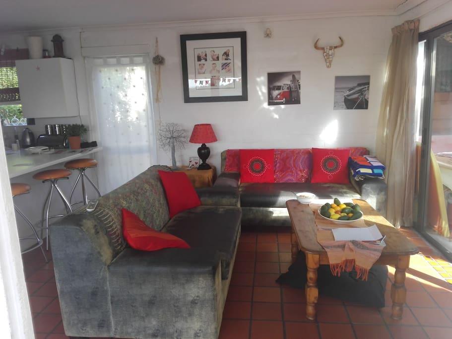 kitchen cum lounge