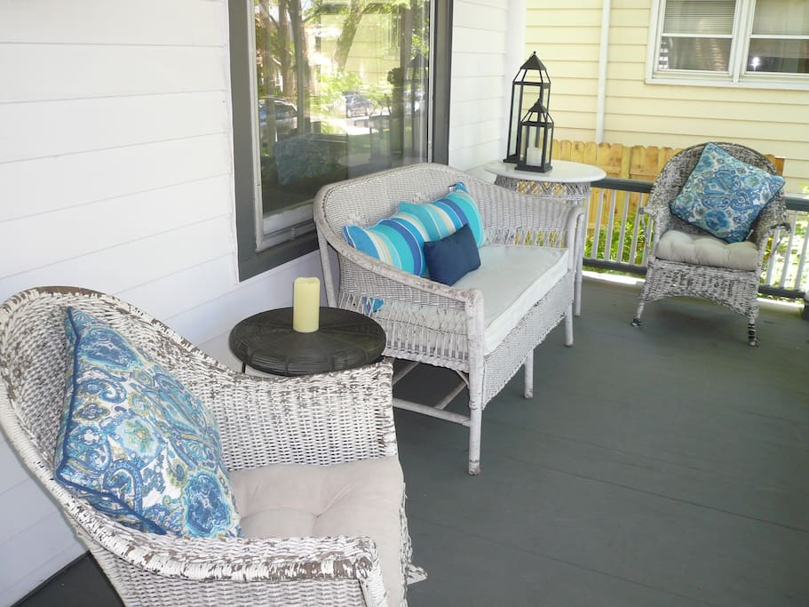 shady porch for lounging