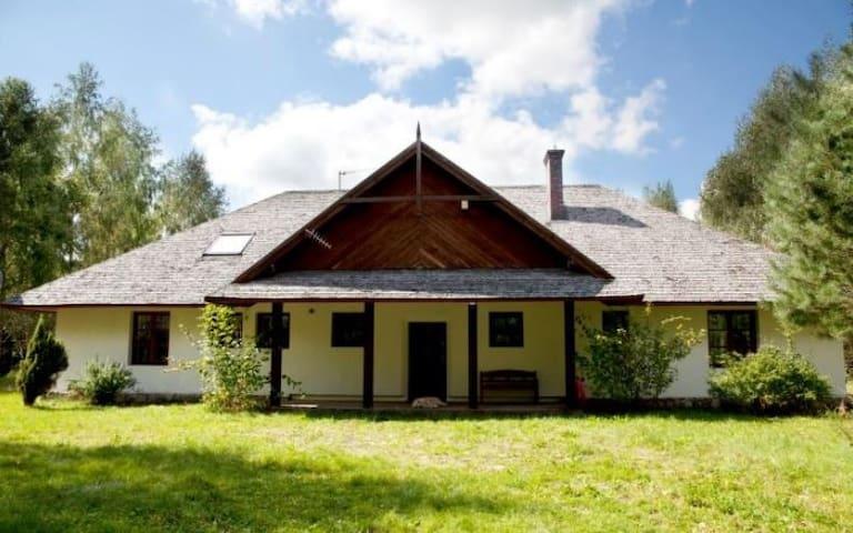 Room 50sqm, private bathroom,hammocks,fireplace :) - Wilcza Wólka - House