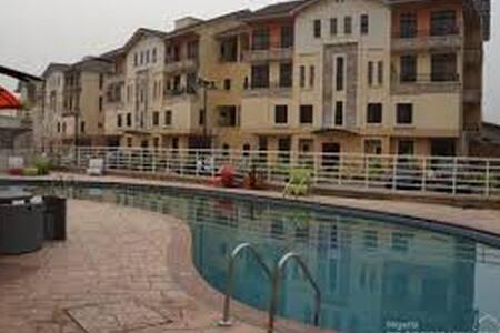 Luxury Bedroom at Grace Court Estate - Lagos - Apartmen perkhidmatan