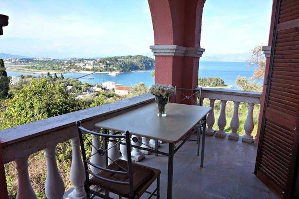The balcony..