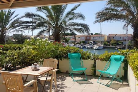 Cap d'Agde 6Pers Terrasse Piscine Vue,situé++