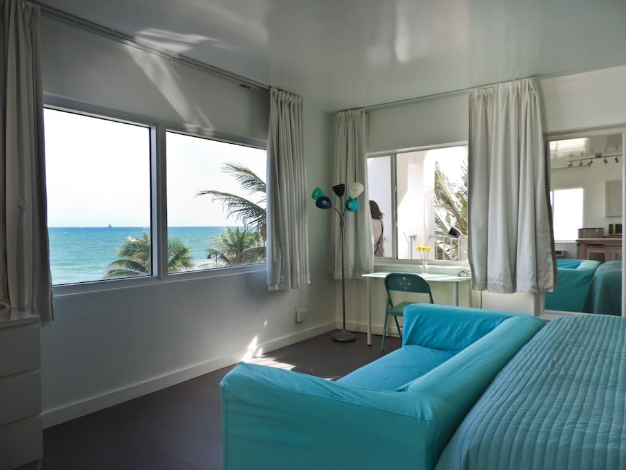 Direct Ocean Views from your private King Studio!