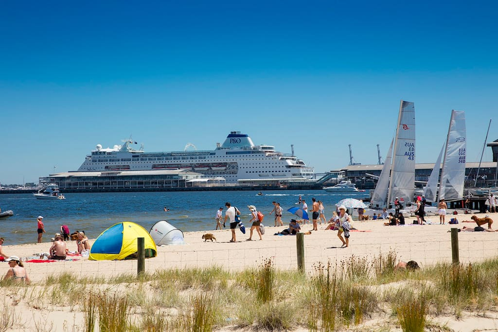 Enjoy summer in Port Melbourne - with #beachlife