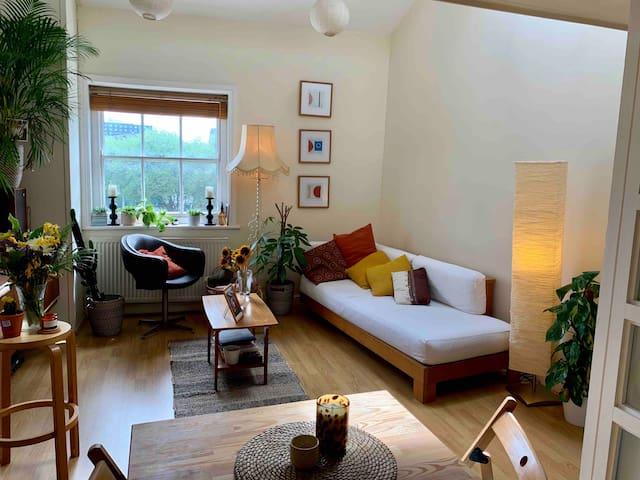 Central spacious skylit apartment w/ big mezzanine