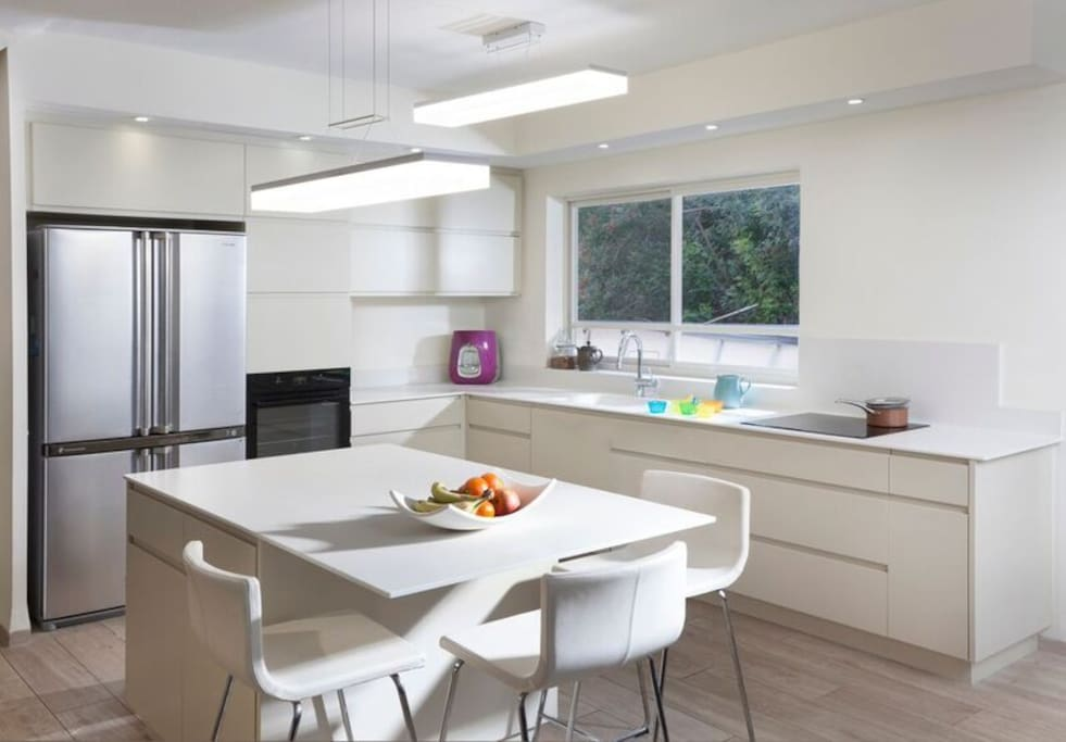 Kitchen with small dining