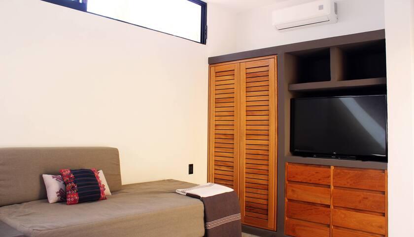 Studio with TV