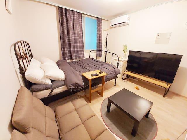 ●2인~6인까지  머무를수 있는 넓은공간 아파트 독채 전체사용  숙소입니다●