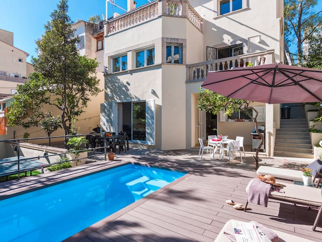 Villa with private pool, Palma City, 12p+children