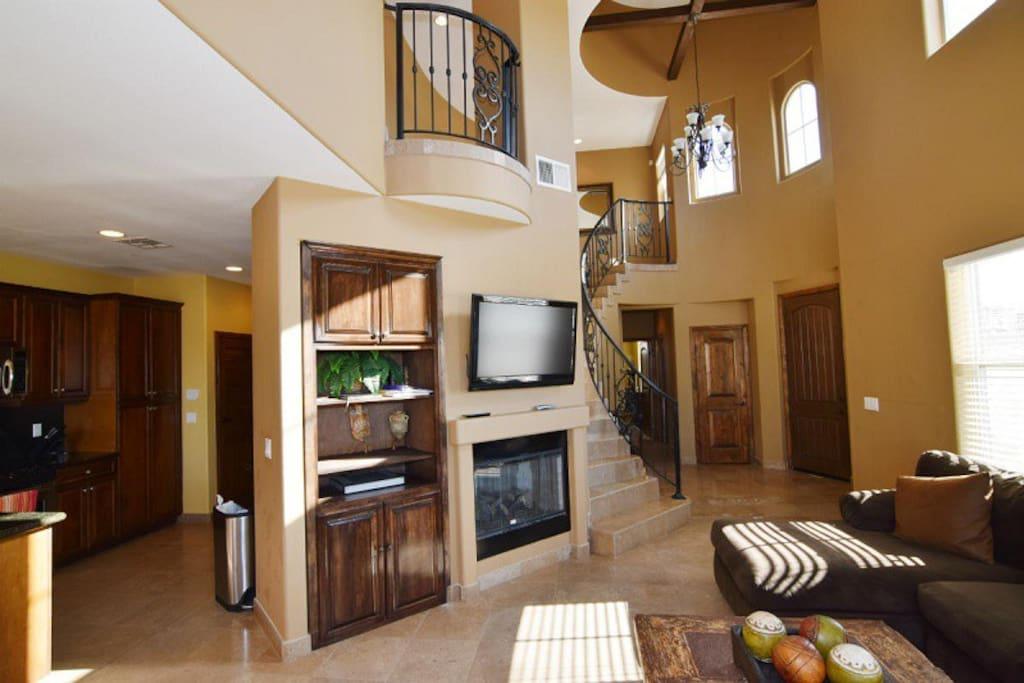 San Felipe Beachfront villa 734 - spacious living room