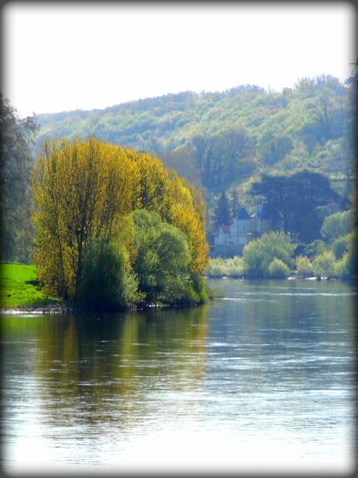 Vue sur la rivière Dordogne