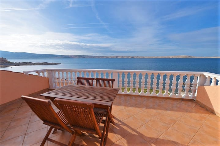 Idyllic apartment by the sea - Vidalići - Apartamento