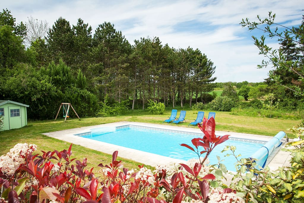 Swimming pool and outdoor games area