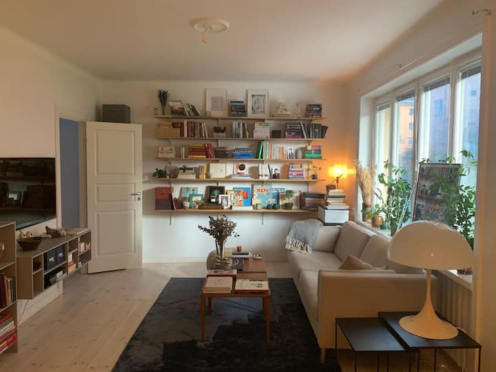 Light and Cozy Designers Apartment in Hornstull!