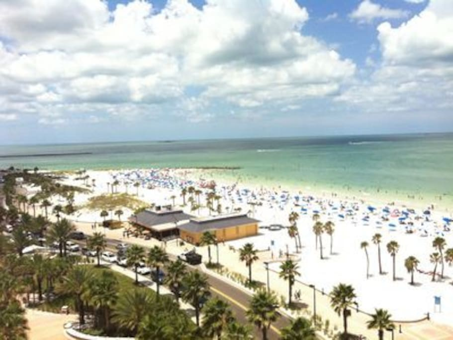 WELCOME TO CLEARWATER BEACH VOTED # 1 BEACH IN THE USA .NOTED FOR ITS SUGAR WHITE SAND AND CRYSTAL BLUE WATERS .