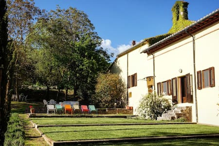 Garden apartment in 1588 convent - Radicofani, Val d'Orcia