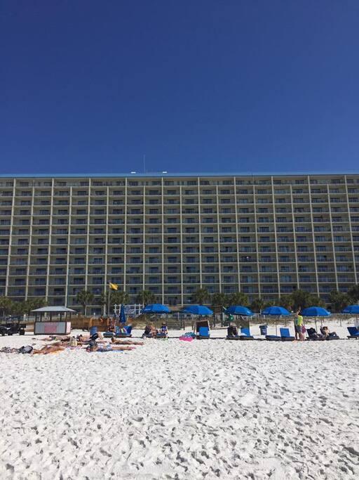 Beach View of Condo