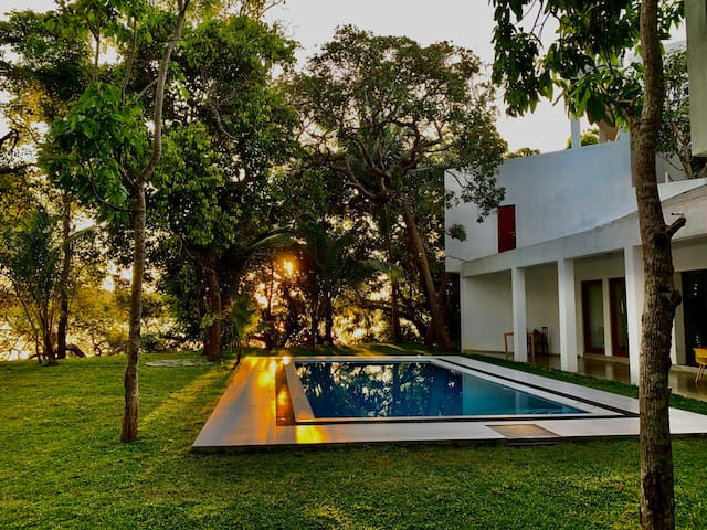 Entire luxurious villa on a tranquil lagoon