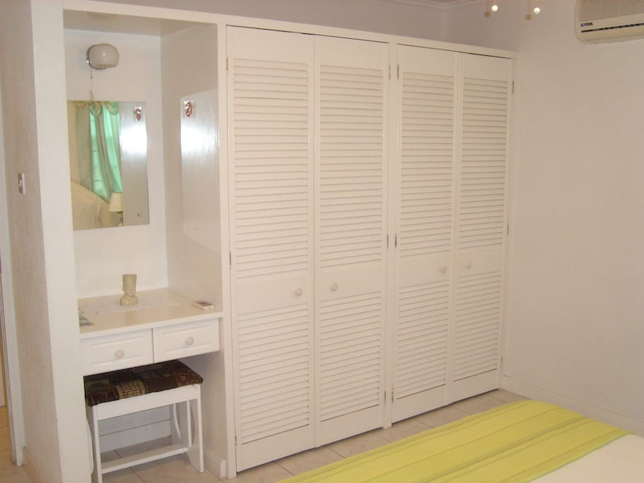 Wardrobe space in the Master and Twin Bedrooms
