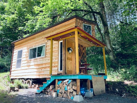 Dreamy Tiny House in the Woods with a swing