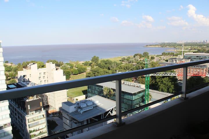 Hermoso apartamento 2 ambientes con vista al río