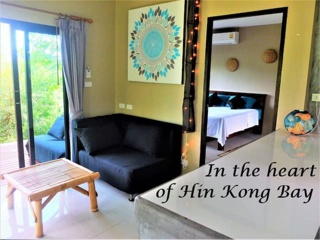 HINKONG BAY, quiet & cozy full house 2-3pers w/AC